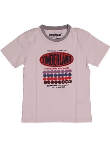 T-shirt manches courtes garçon TIMBERLAND rose 8 ans été #1549019_1