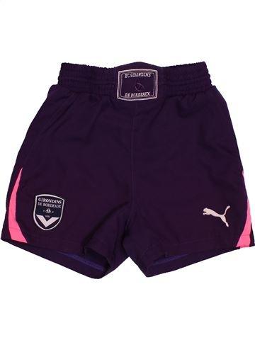 Pantalon corto deportivos niño PUMA violeta 8 años verano #1549665_1