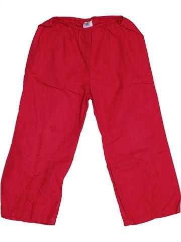 Pantalon fille PETIT BATEAU rouge 4 ans été #1550725_1
