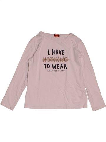 T-shirt manches longues fille TAPE À L'OEIL rose 8 ans hiver #1550821_1