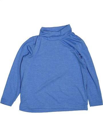 T-shirt col roulé garçon CRANE bleu 4 ans hiver #1551948_1