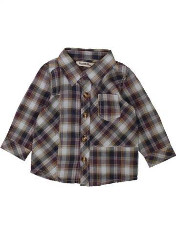 Chemise manches longues garçon TAPE À L'OEIL gris 9 mois hiver #1553454_1