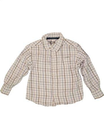 Chemise manches longues garçon OKAIDI rose 4 ans hiver #1553819_1