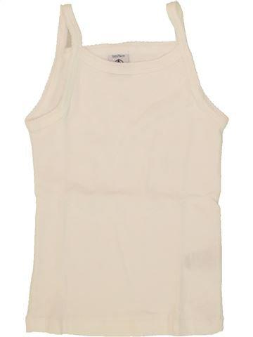 T-shirt sans manches fille PETIT BATEAU beige 3 ans été #1553975_1