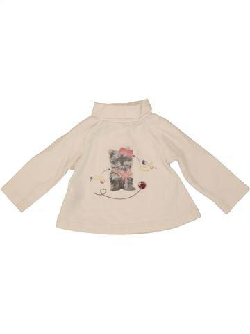T-shirt col roulé fille TAPE À L'OEIL violet 3 mois hiver #1554218_1