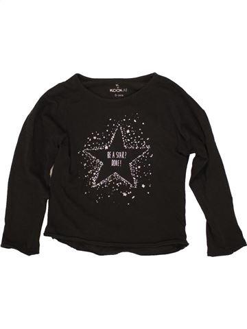 T-shirt manches longues fille KOOKAI noir 5 ans hiver #1555947_1