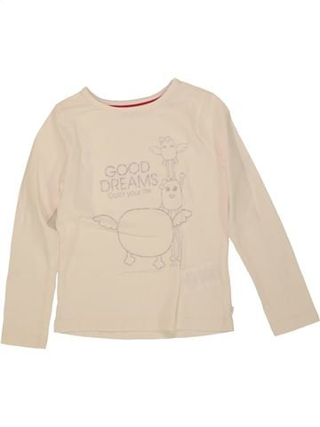 T-shirt manches longues fille OKAIDI beige 4 ans hiver #1555972_1