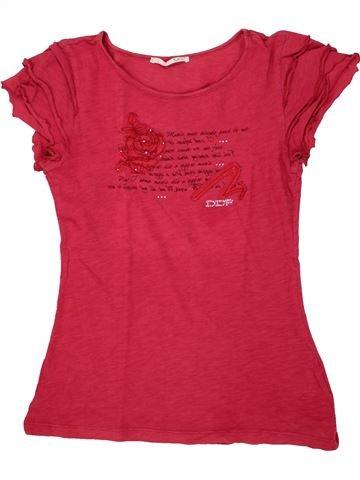 T-shirt manches courtes fille DDP rose 14 ans été #1556323_1
