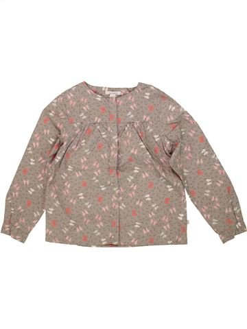 Blouse manches longues fille OKAIDI beige 6 ans hiver #1556338_1