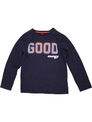 T-shirt manches longues garçon OKAIDI bleu 7 ans hiver #1557096_1