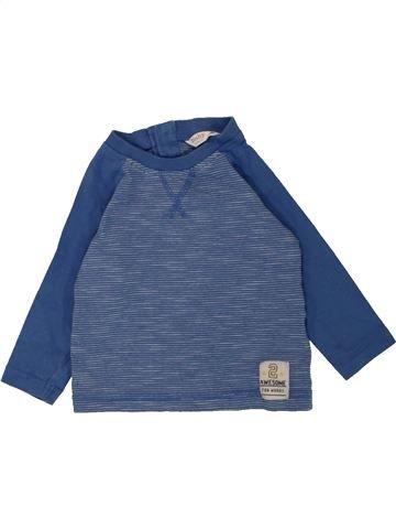 T-shirt manches longues garçon M&CO bleu 6 mois hiver #1557177_1