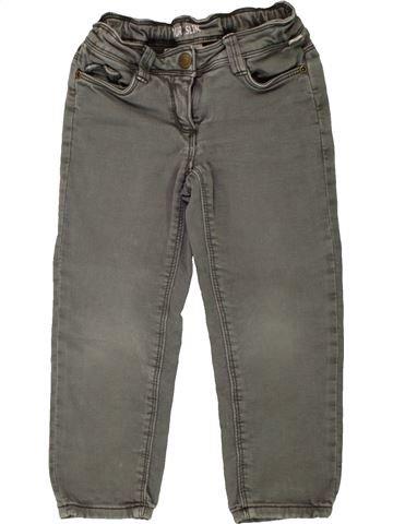 Pantalon fille TAPE À L'OEIL gris 3 ans hiver #1557451_1