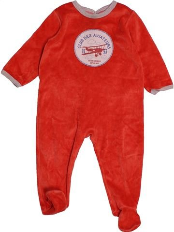 Pyjama 1 pièce garçon PETIT BATEAU rouge 18 mois hiver #1557621_1