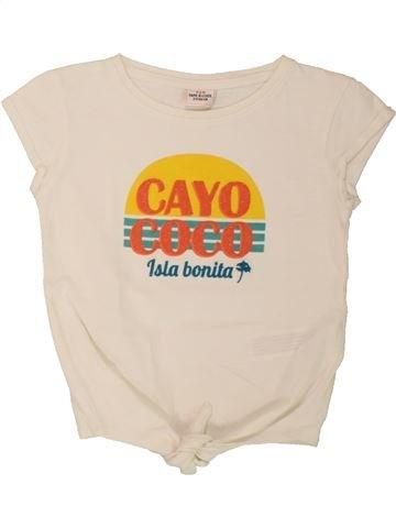 T-shirt manches courtes fille TAPE À L'OEIL beige 2 ans été #1557649_1