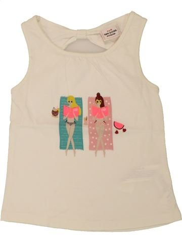T-shirt sans manches fille TAPE À L'OEIL beige 2 ans été #1557662_1