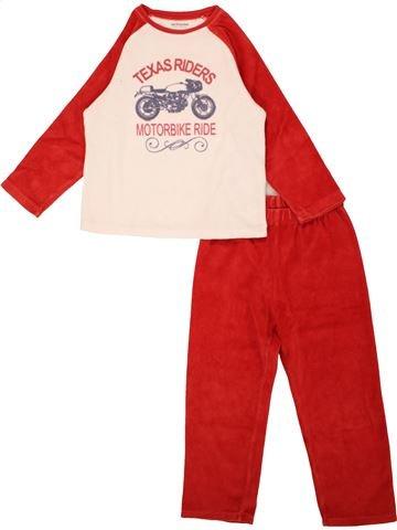 Pyjama 2 pièces garçon VERTBAUDET rouge 4 ans hiver #1557745_1