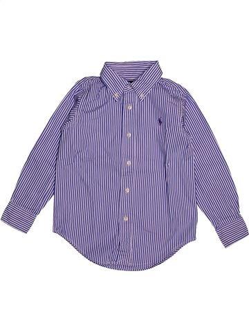 Chemise manches longues garçon RALPH LAUREN bleu 4 ans hiver #1558016_1