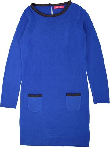 Robe fille YOUNG DIMENSION bleu 8 ans hiver #1558205_1