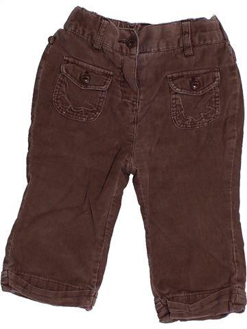 Pantalon fille OKAIDI marron 12 mois hiver #1558213_1