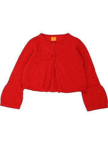 Gilet fille MINI MODE rouge 4 ans hiver #1558303_1