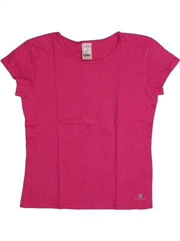 Camiseta de manga corta niña DOMYOS rosa 10 años verano #1559868_1