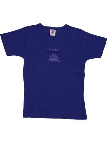 T-shirt manches courtes garçon PETIT BATEAU bleu 6 ans été #1560880_1