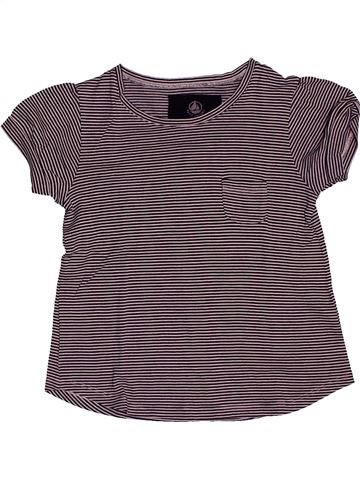 T-shirt manches courtes fille PETIT BATEAU gris 5 ans été #1561390_1