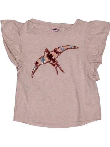 T-shirt sans manches fille TAPE À L'OEIL beige 2 ans été #1561488_1