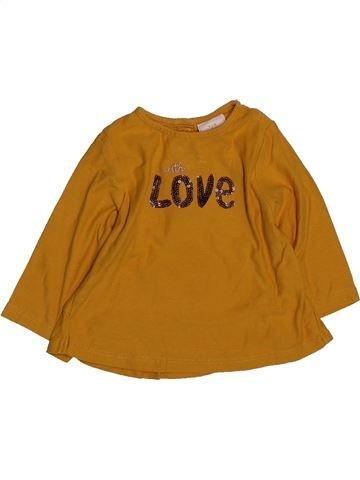 T-shirt manches longues fille TAPE À L'OEIL marron 6 mois hiver #1561548_1