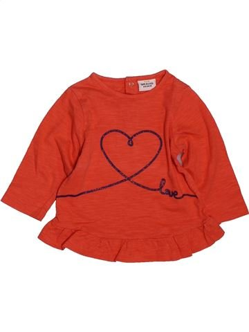 T-shirt manches longues fille TAPE À L'OEIL rouge 6 mois hiver #1561565_1