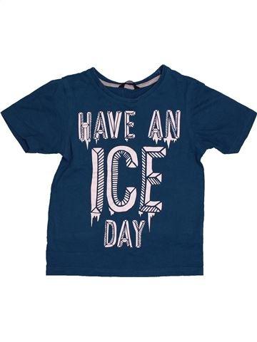 T-shirt manches courtes garçon GEORGE bleu 7 ans été #1562389_1