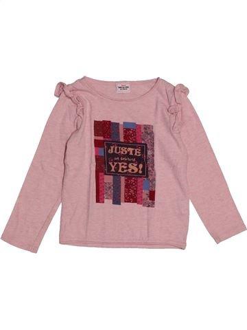 T-shirt manches longues fille TAPE À L'OEIL rose 3 ans hiver #1562683_1