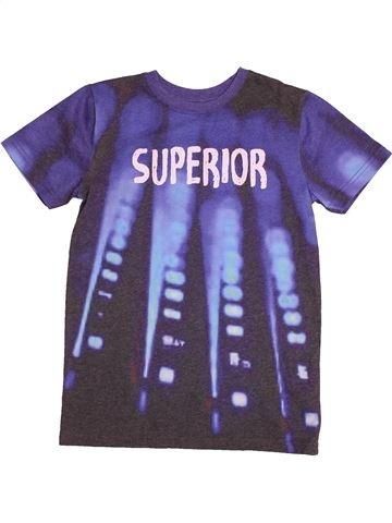 T-shirt manches courtes garçon M&CO violet 10 ans été #1562859_1