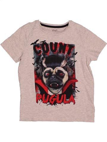 T-shirt manches courtes garçon F&F rose 9 ans été #1563040_1