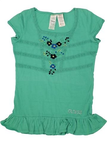 91190982991c3 T-shirt manches courtes fille GUESS vert 12 ans été  1601921 1