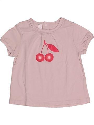 19c748976a481 T-shirt manches courtes fille OKAIDI rose 2 ans été  1694838 1