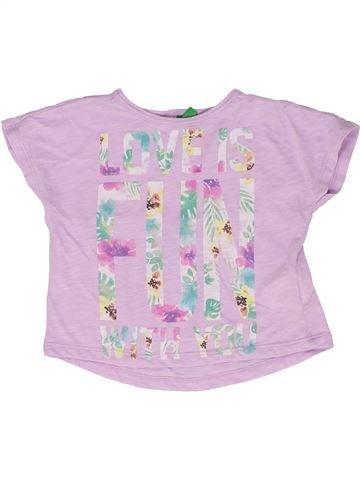 e8686ea7d Camiseta de manga corta niña BENETTON rosa 12 meses verano #1706948_1