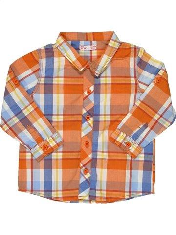 Chemise manches longues garçon DPAM orange 18 mois hiver #790632_1