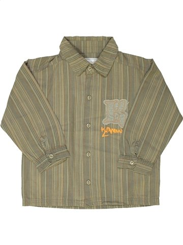 Chemise manches longues garçon KIMBALOO gris 2 ans hiver #799140_1