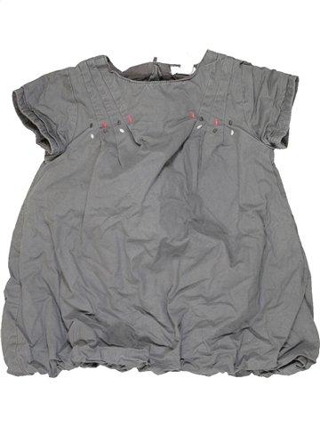 Robe fille OKAIDI gris 12 mois été #815550_1