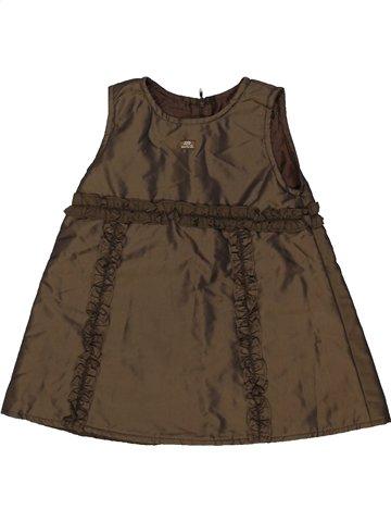 Robe fille LILI GAUFRETTE marron 2 ans été #825822_1