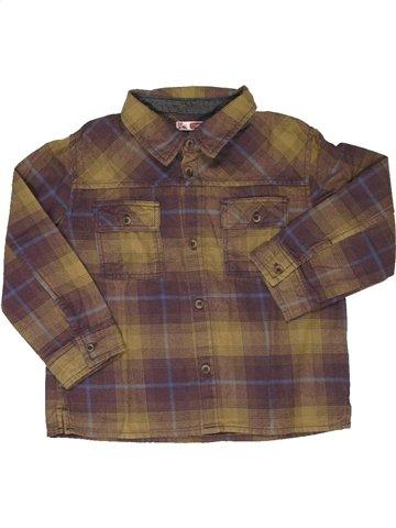 Chemise manches longues garçon DPAM marron 2 ans hiver #852807_1