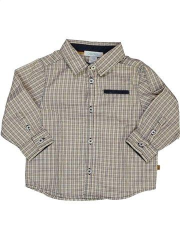 Chemise manches longues garçon OKAIDI gris 12 mois hiver #926286_1