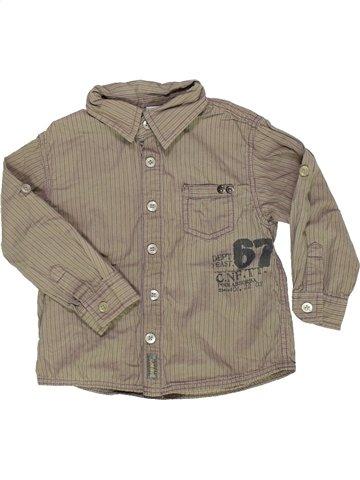 Chemise manches longues garçon CONFETTI gris 2 ans hiver #937250_1
