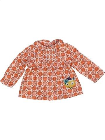 Blouse manches longues fille DPAM orange 6 mois hiver #948274_1