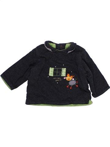 T-shirt manches longues garçon CATIMINI noir 6 mois hiver #987876_1