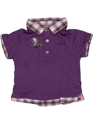 Polo manches courtes garçon OKAIDI violet 6 mois été #995135_1